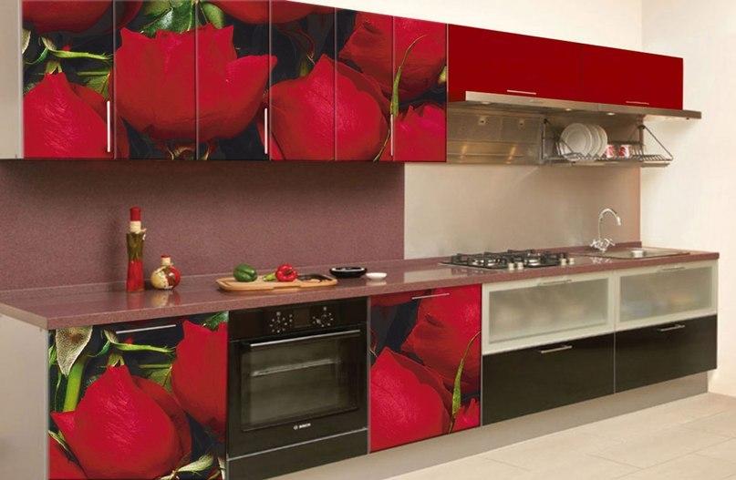 Кухни с фотопечатью на фасадах фото цена